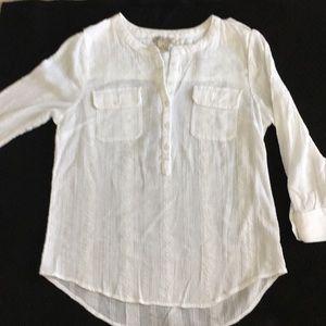 White tunic style blouse